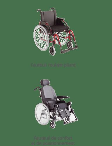 Fauteuil roulant pliant - Fauteuil de confort et de positionnement