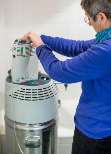 Dispositif d'oxygène liquide à domicile